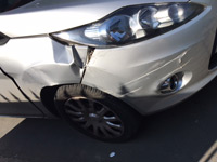 Image of customers car following accident